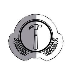 contour symbol hammer icon stock vector image vector image