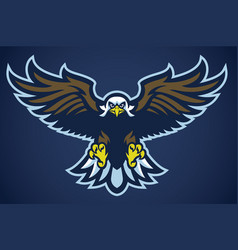 eagle spread the wings vector image vector image