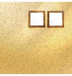 Golden mosaic interior vector image