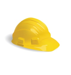 isolated hard hat vector image vector image
