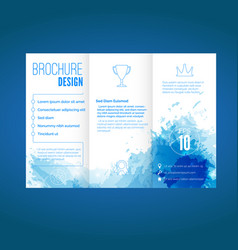 modern brochure design with watercolor pattern vector image vector image