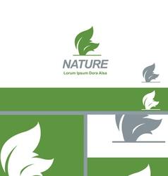 Nature Green Leaf Natural Organic Logo Concept vector image vector image