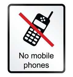 No Mobile Phones Information Sign vector image vector image