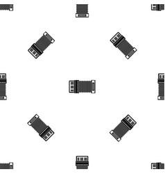 accordion pattern seamless black vector image vector image