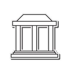 ancient greek building icon vector image
