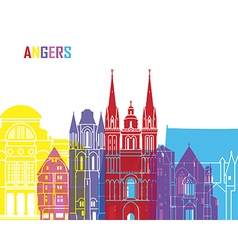 Angers skyline pop vector image