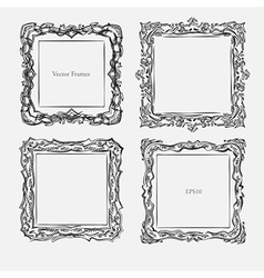 Antique square decorative vintage vector