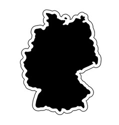 Black silhouette of the country germany with the vector
