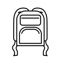 black silhouette with camping backpack vector image