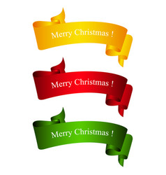 bright banners merry christmas vector image