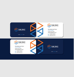 Business card engineering and construction vector