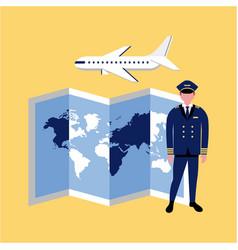 Businessman international captain vector