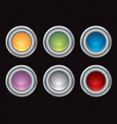 chrome glossy internet buttons vector image