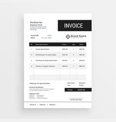 Clean invoice template modern design vector