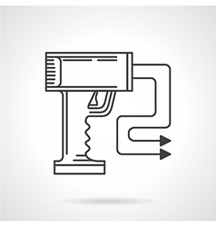 Contour icon for stun gun vector image