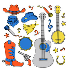 country music band western festival vector image