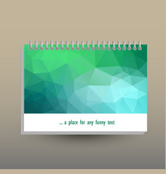 Cover of diary or notebook with ring spiral vector