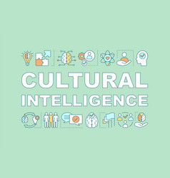 Cultural intelligence word concepts banner vector