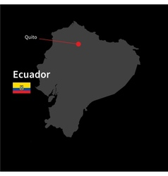 Detailed map of Ecuador and capital city Quito vector image