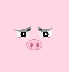 Determined piggy vector