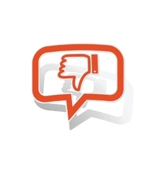 Dislike message sticker orange vector