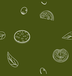 doodle lineart drawn seamless pattern vector image