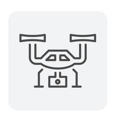 drone icon black vector image