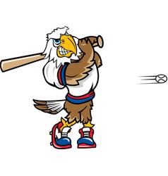 Eagle sports baseball logo mascot vector
