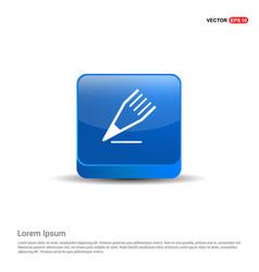 Edit pencil icon - 3d blue button vector
