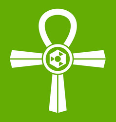 Egypt ankh symbol icon green vector