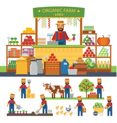 farming infographic elements cultivation of vector image