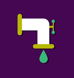 Flat icon design collection tap is dripping in vector