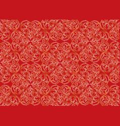 Floral seamless ornament swirl oriental flower vector