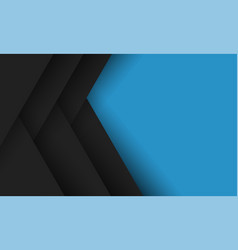 geometric abstract blue black background vector image