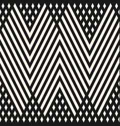 Geometric lines pattern black and white ornament vector