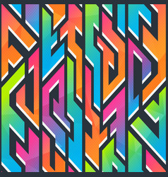 graffiti geometric pattern vector image