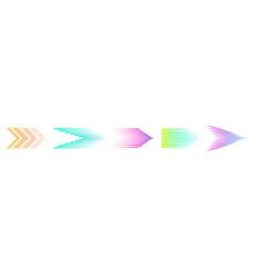 halftone arrows colorful arrow speed lines vector image