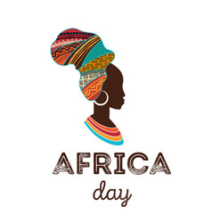 happy africa day poster banner card vector image