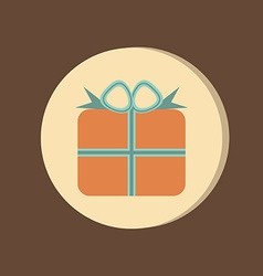 Holiday Gift Box Icon EPS 8 vector image