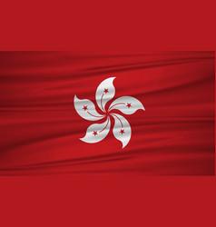 Hong kong flag flag of hong kong blowig in the vector