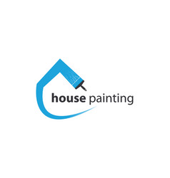 House painting logo template vector
