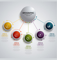 Info graphic with circular design element vector
