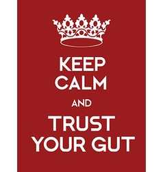 Keep Calm and Trust your Gut poster vector image