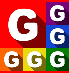 letter g sign design template element set vector image
