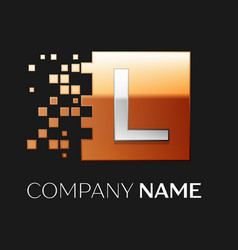 Letter l logo symbol in the colorful square vector