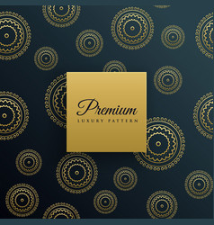 luxury golden decorative pattern background vector image
