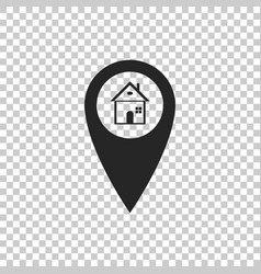 map pointer with house icon isolated vector image