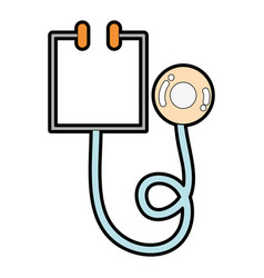 medical stethoscope tool and cardiology element vector image