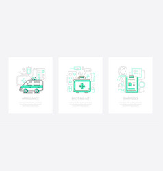 medicine and healthcare - line design style vector image