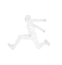 men athlete jumper in triple jump vector image
